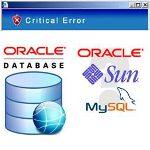 kritická chyby v databázi oracle