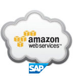 Amazon Web Services a SAP logo