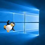 windows10 a přilétající tux