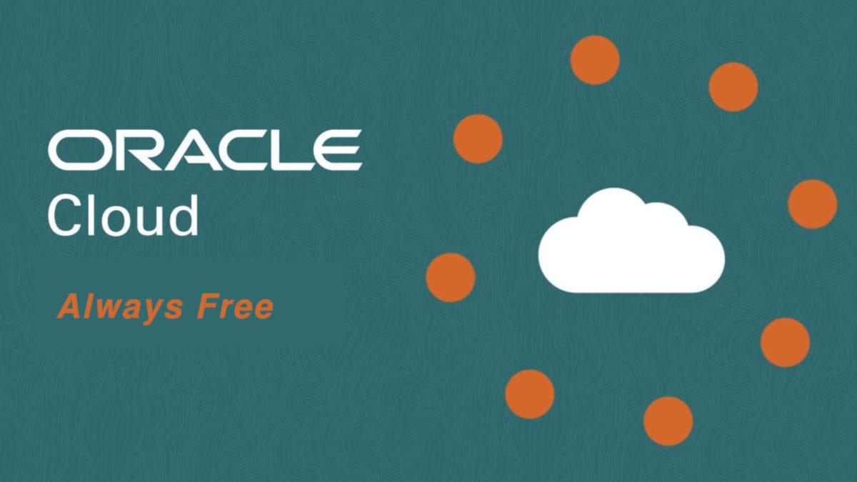 oracle cloud vždy zdarma